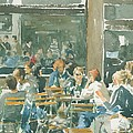 French cafe scene  Poster by Ian Osborne