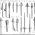 FRENCH CHIVALRIC WEAPONS Print by Granger