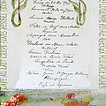 French Vintage Menu Abstract Poster by adSpice Studios