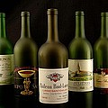 French wine labels Print by David Campione