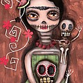 Frida Day of the Dead Print by  Abril Andrade Griffith