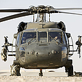 Front View Of A Uh-60l Black Hawk Print by Terry Moore