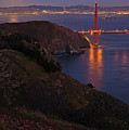 Full Moon Over Golden Gate Bridge Print by Photo by Mike Shaw