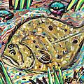 Funky Folk Flounder by Robert Wolverton Jr