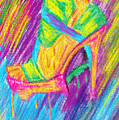 Funky Stilettos Impression Print by Kenal Louis