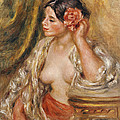 Gabrielle a sa Coiffure Poster by Pierre Auguste Renoir