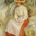 Gabrielle in a Straw Hat Print by Pierre Auguste Renoir