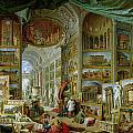 Gallery of Views of Ancient Rome Print by Giovanni Paolo Pannini