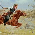 Galloping Horseman Poster by Frederic Remington