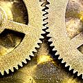 Gears From Inside A Wind-up Clock Poster by John Short