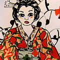 Geisha in training Print by Patricia Lazar