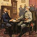 General Grant meets Robert E Lee  Poster by English School