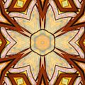 Geometric Stained Glass Abstract Poster by Linda Phelps