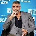 George Clooney At The Press Conference Poster by Everett