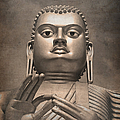 Giant Gold Buddha vintage Poster by Jane Rix