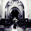 Girl in the Church Print by Jenny Rainbow