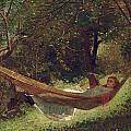 Girl in the Hammock Poster by Winslow Homer