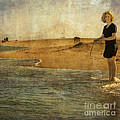 girl on a shore Print by Paul Grand