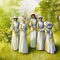 Girls in the Band Print by Jane Whiting Chrzanoska