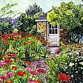 Giverny Gardeners House Print by David Lloyd Glover
