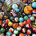 Glass jar and marbles Poster by Garry Gay