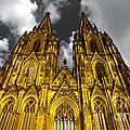 Golden Dome of Cologne Print by Thomas Splietker