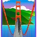Golden Gate Poster by Phil Dynan