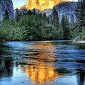 Golden Light On Half Dome Print by Mimi Ditchie Photography