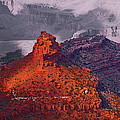 Grand Canyon in Red and Blue Poster by Viktor Savchenko