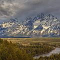 Grand Tetons Snake River Print by Charles Warren