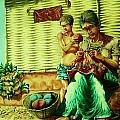 Granny and Grand Son by Pralhad Gurung