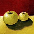 Granny Smith Apples Print by Michelle Calkins
