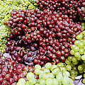 Grapes at a Market Stall Print by Jeremy Woodhouse