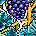 Grapes Poster by Genevieve Esson