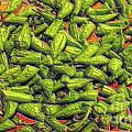 Green Bean Tiips Print by Ron Bissett