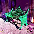 Green Bench by Michael Fitzpatrick Poster by Olden Mexico