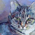 Green Eyed Tabby - Thomasina Poster by Kimberly Santini