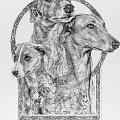 Greyhound - The Ancient Breed of Nobility - A Legendary Hidden Creation series Poster by Steven Paul Carlson