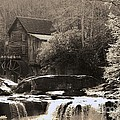 Grist Mill in Sepia Poster by Laurinda Bowling