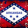Grunge Style Arkansas Flag Poster by David G Paul