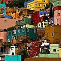Guanajuato Hillside 4 Poster by Olden Mexico