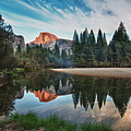 Half Dome And  Merced Print by Mimi Ditchie Photography
