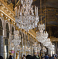 Hall of Mirrors at Palace of Versailles France Poster by Jon Berghoff