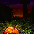 Halloween Cemetery Poster by Christopher and Amanda Elwell