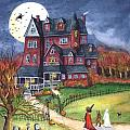 Halloween Haunted Mansion Poster by Iva Wilcox