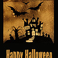 Halloween quilt top Poster by Nancy Greenland