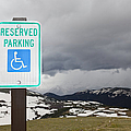 Handicap Parking Sign at a National Park Poster by Bryan Mullennix