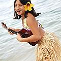 Happy Girl with Ukulele Poster by Brandon Tabiolo - Printscapes