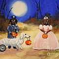Happy Halloweenies Mummy Policeman and Princess Poster by Stella Violano