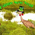 Happy New Year Card Print by Adele Moscaritolo